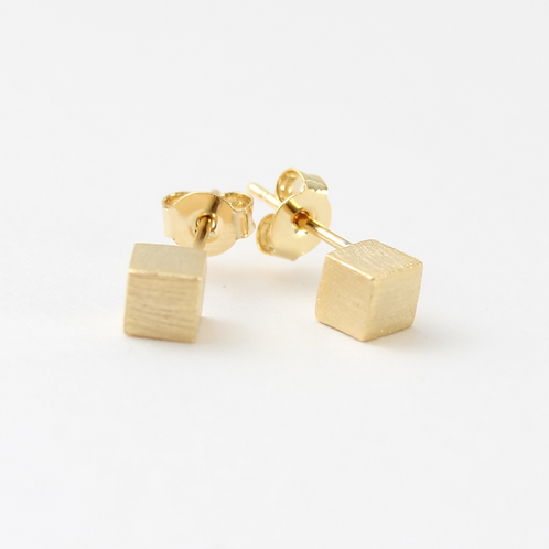 LIANNA CUBE EARRINGS - GOLD