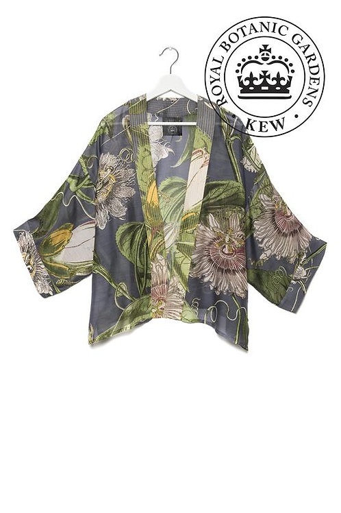 PASSION FLOWER GREY KIMONO