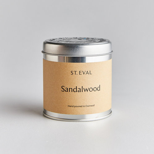 SANDALWOOD SCENTED TIN