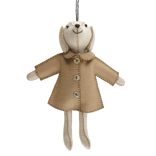 FELT DOG IN JACKET