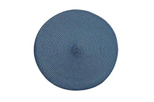 CIRCULAR RIBBED PLACE MAT - SLATE BLUE