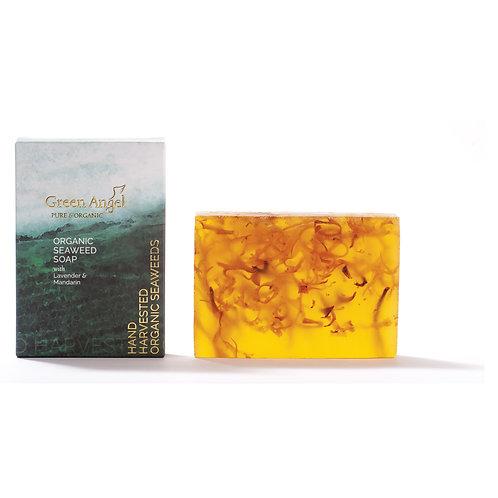 ORGANIC SEAWEED SOAP WITH LAVENDER & MANDARIN