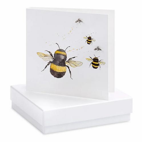 BUMBLE BEE EARRINGS CARD
