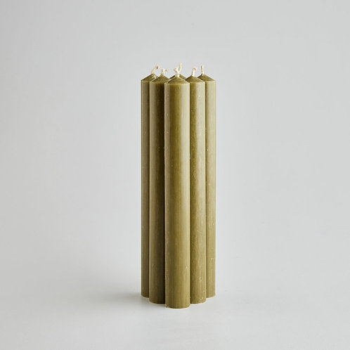 "CANDLE STICK 8"" - OLIVE"