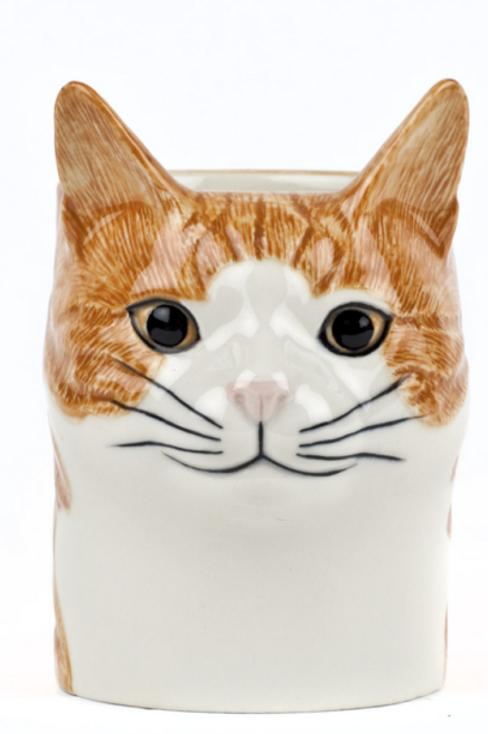 CAT PENCIL POT - SQUASH
