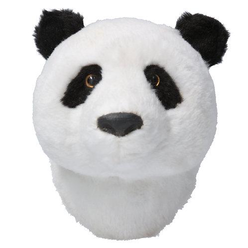 FAUX FUR PANDA HEAD PLAQUE