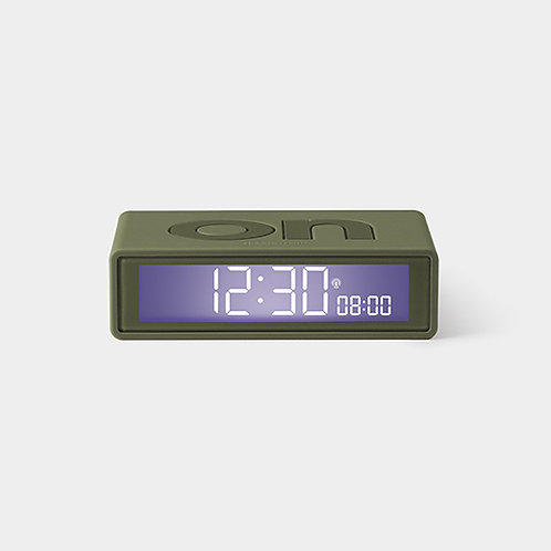 FLIP ALARM CLOCK - KHAKI