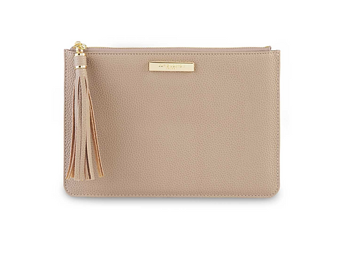 TASSEL POUCH | TAUPE