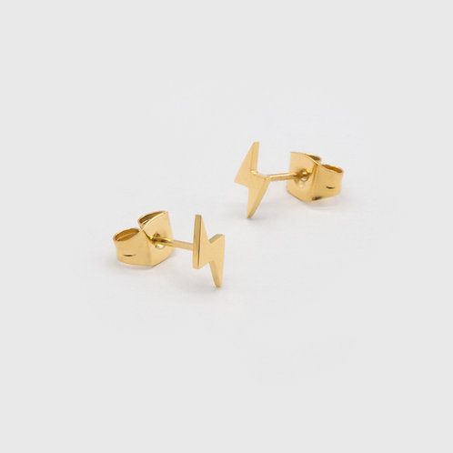 LIGHTNING EARRINGS - GOLD PLATED