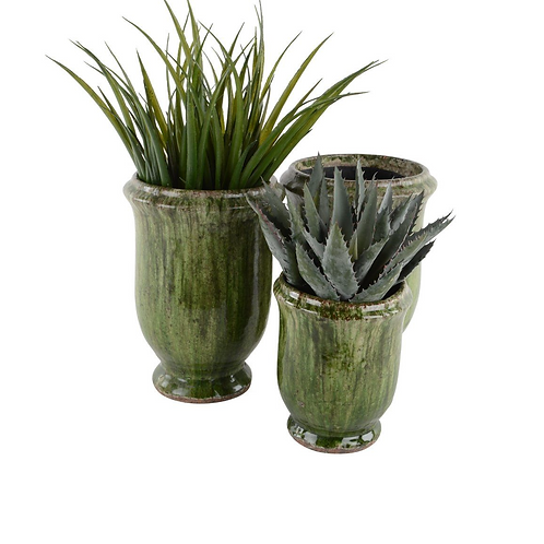 PROVENCAL URN FOREST GREEN SMALL