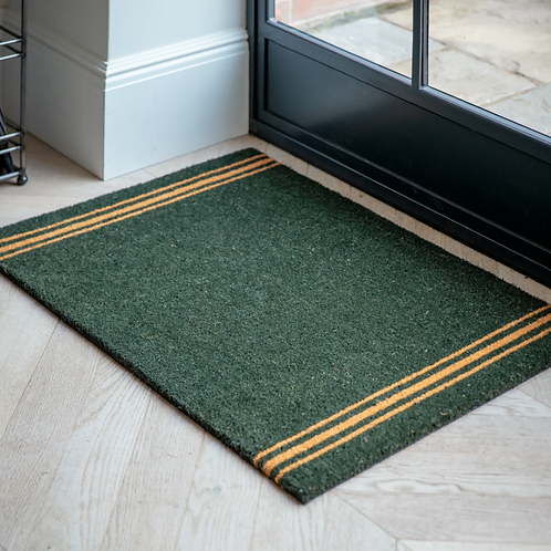 FOREST GREEN DOORMAT - LARGE