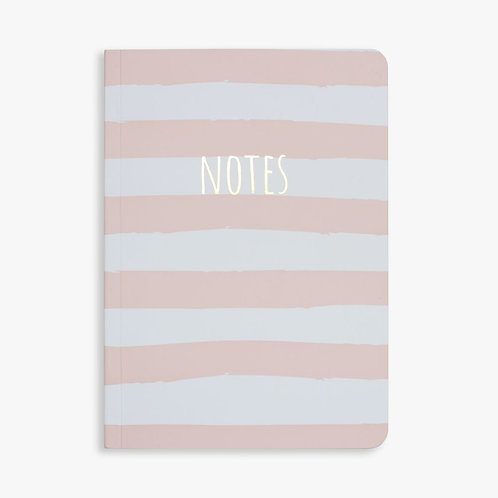 NOTES PINK STRIPE - NOTEBOOK