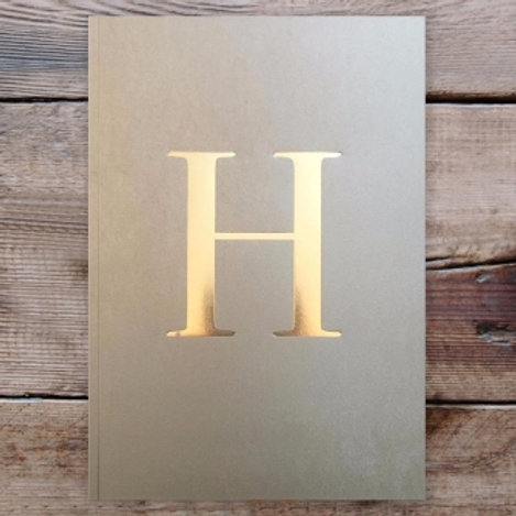 LETTER NOTEBOOK - H