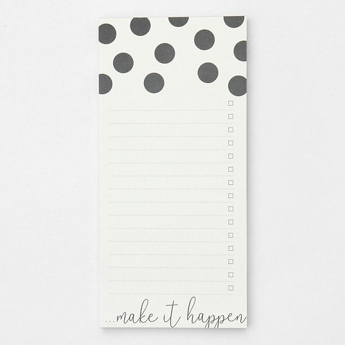SCATTERED SPOT LIST PAD