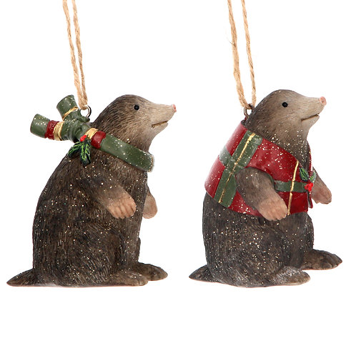 MOLE WITH TARTAN SCARF OR COAT