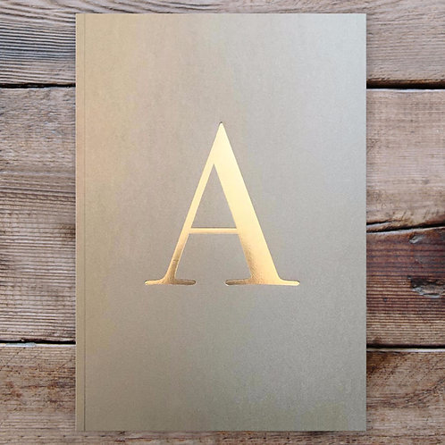 LETTER NOTEBOOK - A - L