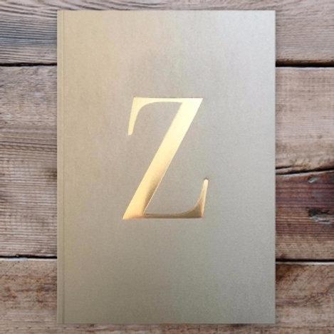 LETTER NOTEBOOK - Z