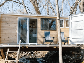 Beautiful 20' Shipping Container Home with no cuts.
