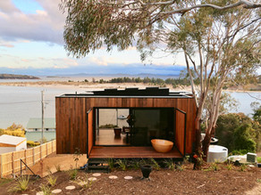 """""""The Pod"""" Inspired by the Tasmanian landscape and  danish heritage /430sqft Tiny Cabin."""