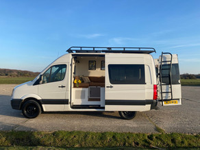 Stunning Volkswagen Crafter with Integrated waste and recycling bins benefits.