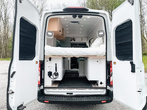 Stunning Ford Transit with Reverse Osmosis, Outdoor Shower & Work Mode.