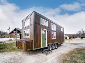 Tiny House with a spectacular skylight and plenty of room to stretch out.