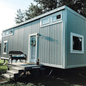 After a long-distance relationship, Couple dive right into close living in DIY Tiny Home.