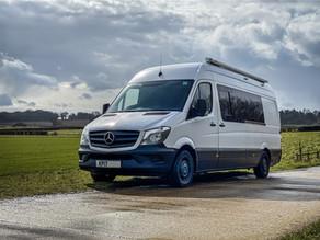 Mercedes Sprinter van for sale, designed around space-saving minimalistic Japanese design.
