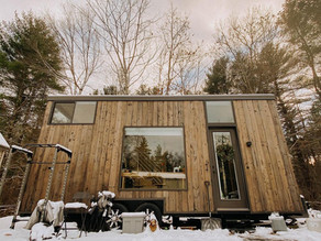 Certified health coach Living in a bright Plant-Filled Tiny House on wheels - TOUR.