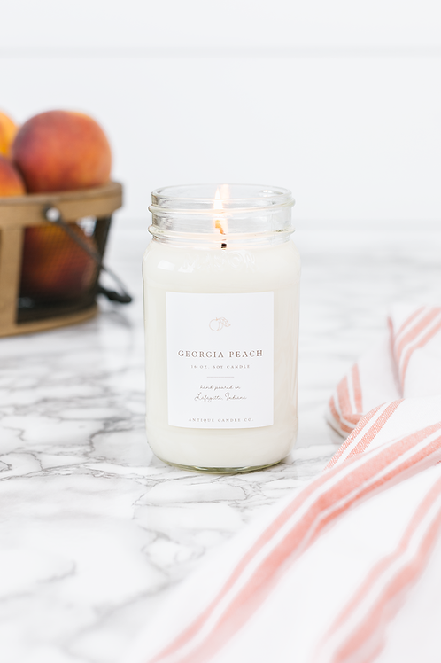 Georgia Peach Mason Jar Candle