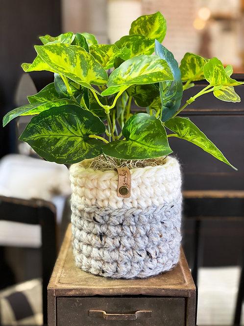 Large Crochet Planter