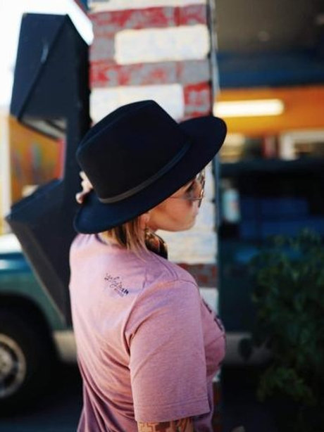 Black Fedora Felt Hat