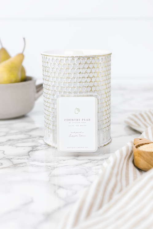 Country Pear by Cotton Stem Wax Melts