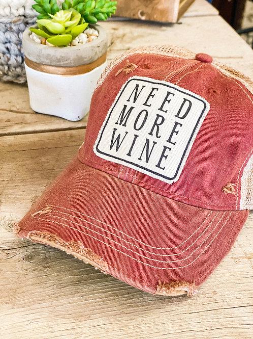 Need More Wine Hat