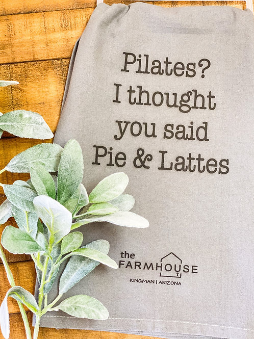 Pie & Lattes Towel