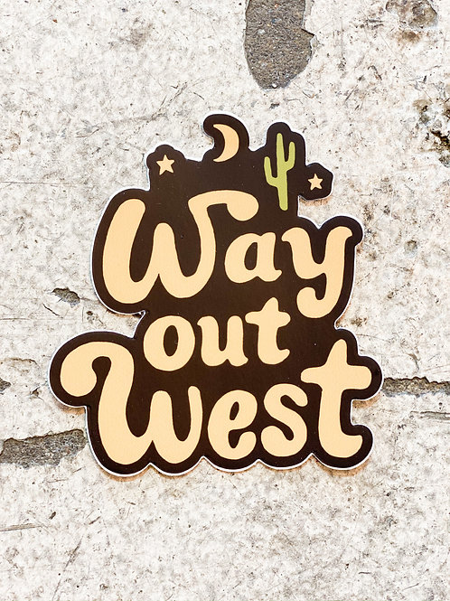 Out West Sticker