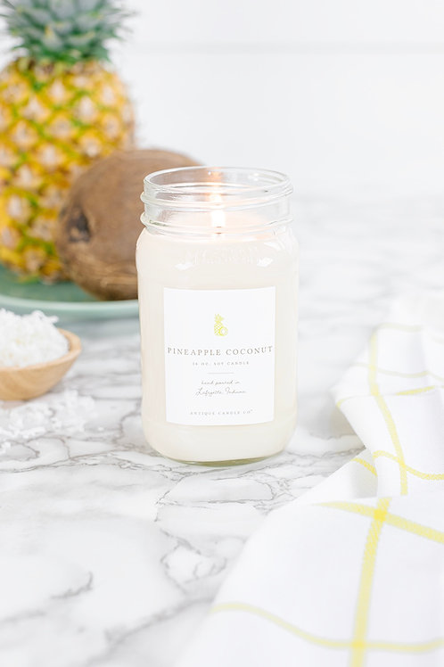 Pineapple Coconut Mason Jar Candle