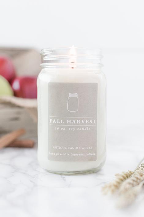 Fall Harvest Mason Jar Candle
