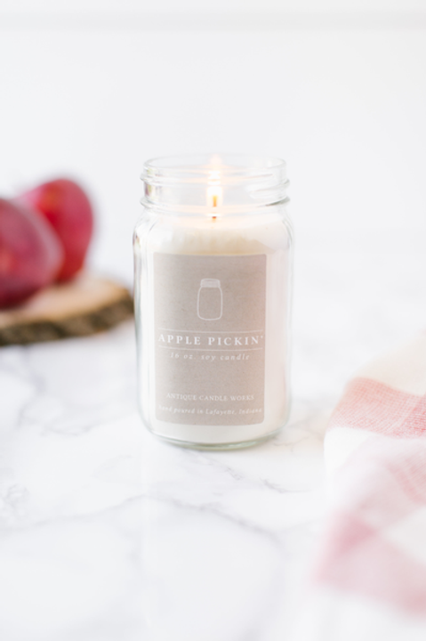 Apple Pickin' Mason Jar Candle