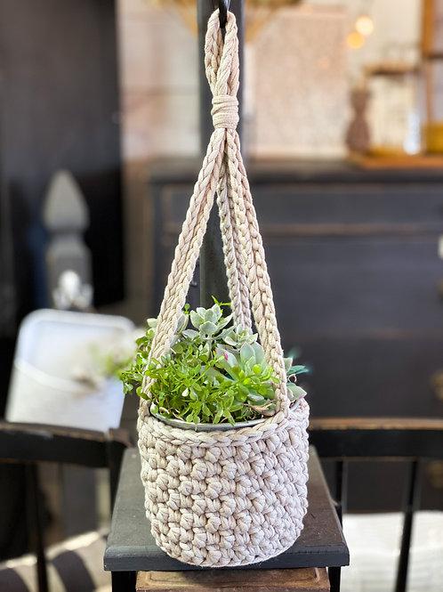 Hanging Crochet Planter