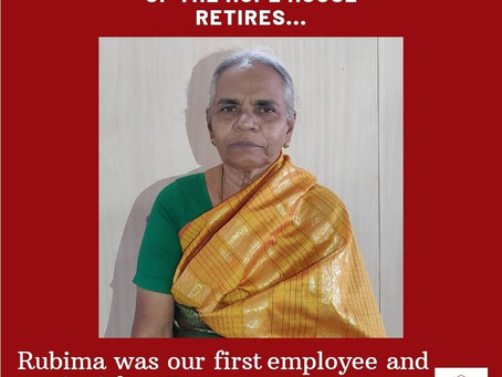 First employee of the Hope House retires...