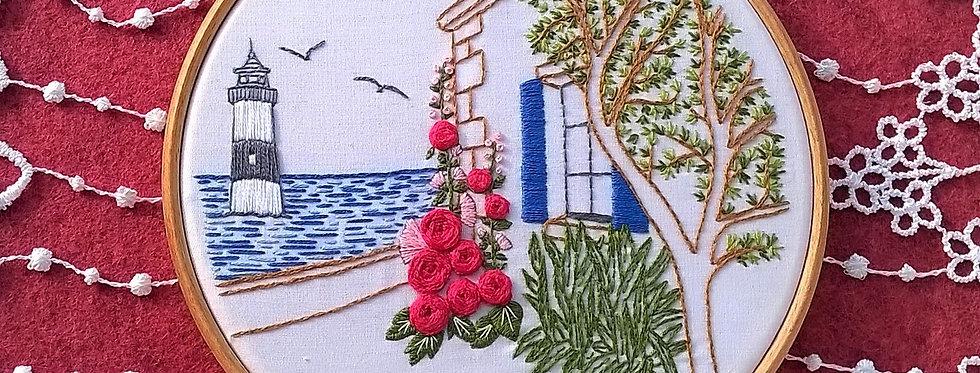 hand embroidery kit  - Île de Ré 2
