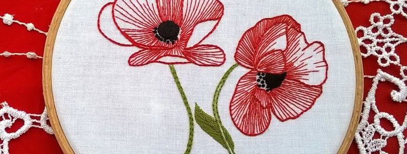 hand embroidery kit - Poppy