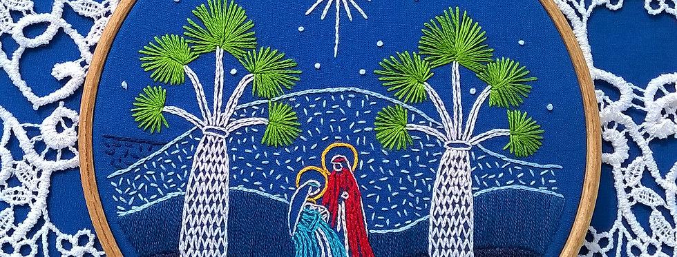 hand embroidery kit  - christmas nativity scene