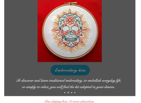 Embroidery kits in english