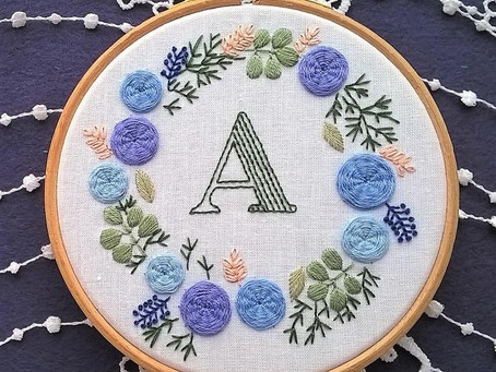 Monogram embroidery kits are back