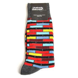 Unsimply Stitched Brick Fun Socks