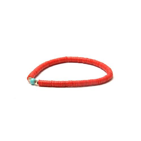 BRANCO Vinyl Bracelet Red