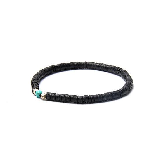 BRANCO Vinyl Bracelet Black