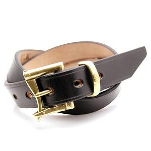 ART BROWN UK Saddle Leather Belt Black